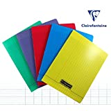 Clairefontaine 170 x 220 mm Polypro Staple Bound Notebook, Seyes Ruled, Red, 192 Pages