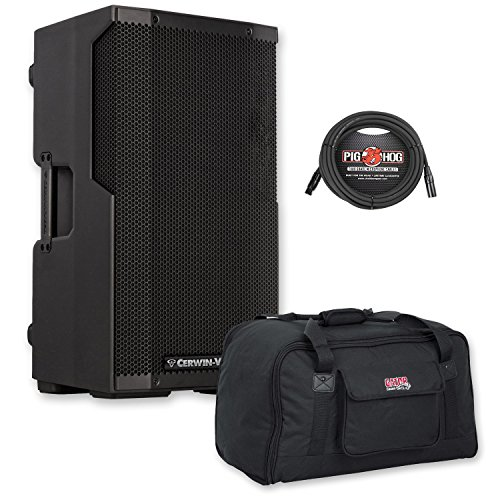 Cerwin Vega CVE-10 Powered Bluetooth Loudspeaker w/Gator Tote Bag and XLR Cable