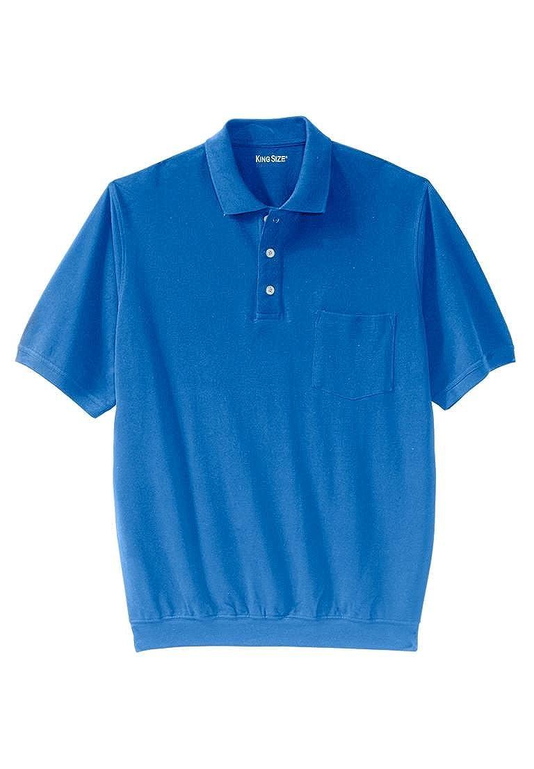5cc64924993 Top4  KingSize Men s Big   Tall Banded Bottom Pocket Polo Shirt