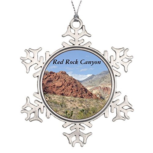 (Personalised Christmas Tree Decoration Red Rock Canyon Mojave Desert Near Las Vegas Ball Snowflake Ornaments)