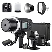 Godox AD600BM Sony Kit with X1T-S Transmitter AD-H600B Mount AD-R6 Reflector PB-600 Bag, AD Glass diffusers,1/8000s Non-TTL Manual 600W Outdoor Flash Light Bowens Mount for Nikon Sony