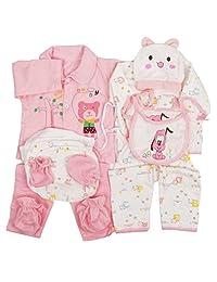 Peak-Peak 18pcs Newborn Baby Clothes Girls Boys Clothing Set Cute infant Outfits Suit