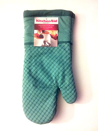 Kitchenaid Cotton Oven Mitt with Textured Silicone Print Gri