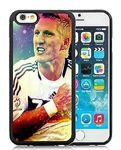 Personalized German football team Schweinsteiger 1 Black TPU Phone Case for iPhone 6 4.7 Inch