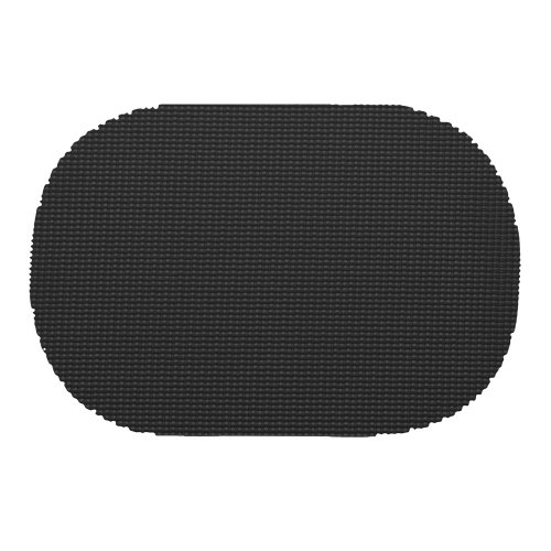 (Kraftware 31136 Fishnet Placemat Dz, Oval, Black)