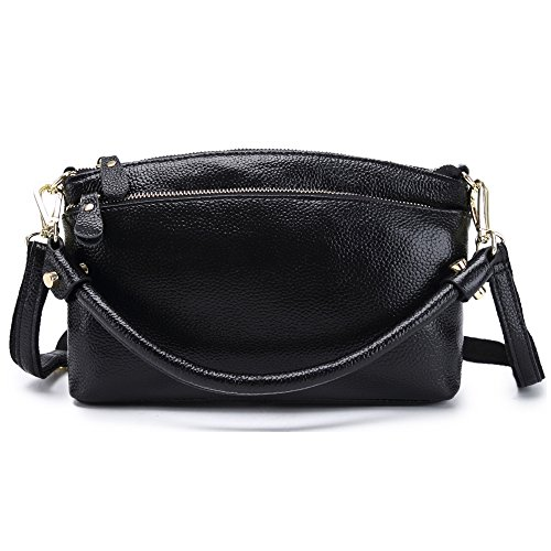 Womens Small Genuine Leather Top Handle Crossbody Purse Handbags Satchel Shoulder (Soft Leather Satchel Handbag)