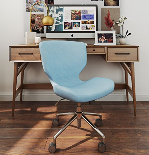 ELLE Décor Madeline Hourglass Task Chair in French Pastel Blue