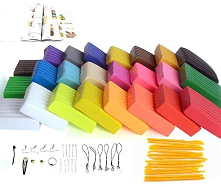 Oytra 24 Color Polymer Clay Oven Bake Set DIY Modeling with Tool Set and Accessories