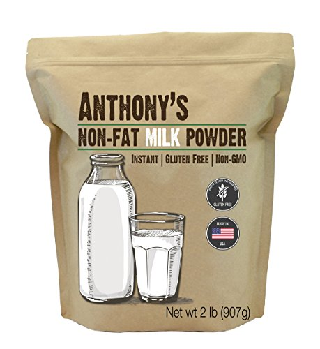 Nonfat Dry Milk Powder - Anthony's Non-Fat Milk Powder (2lb), Instant, Gluten Free & Non-GMO