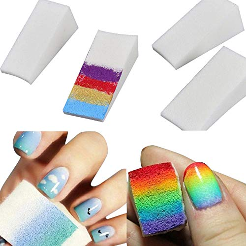 Clearance Sale!UMFun Gradient Nails Soft Sponges for Color Fade Manicure DIY Creative Nail Art Tool -