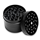 4 Layers Herb Grinder, LYSLEDA Zinc Alloy Tobacco Grinder with Magnetic Top for Dry Herb and Tobacco(2 Inches/50mm)