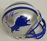 Barry Sanders Signed Autographed Lions Riddell Throwback Mini Helmet