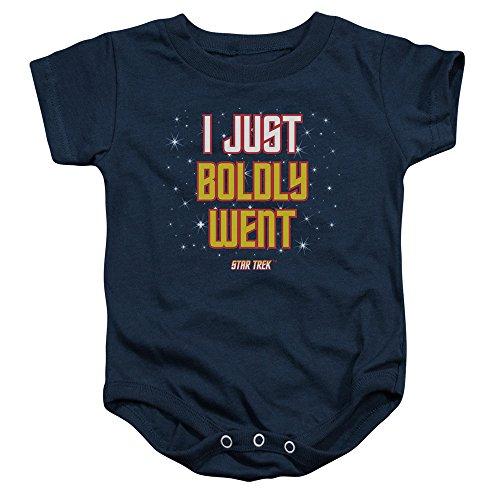 Star Trek Next Generation TV Series Boldly Went Baby Infant Romper Snapsuit