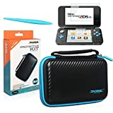 DOBE Carry Case for New Nintendo 2DS XL/LL -with 2 Screen Protector Glass film- 1 Electromagnetic Touch Pan (TYD-055-Blue)