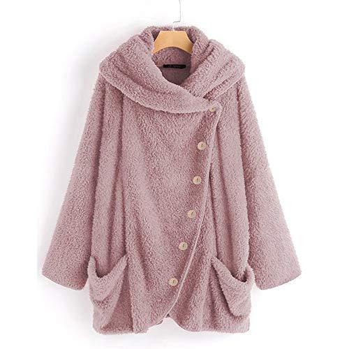 Most Gifted! Teresamoon Women Casual Solid Turtleneck Big Pockets Cloak Coats Vintage Oversize ()