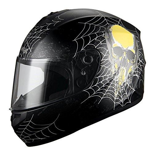 Triangle-Full-Face-Street-Bike-Motorcycle-Helmets-additional-Smoked-Visor-DOT