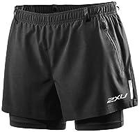2XU Women's XTRM Shorts with Compression, X-Small, Black/Black