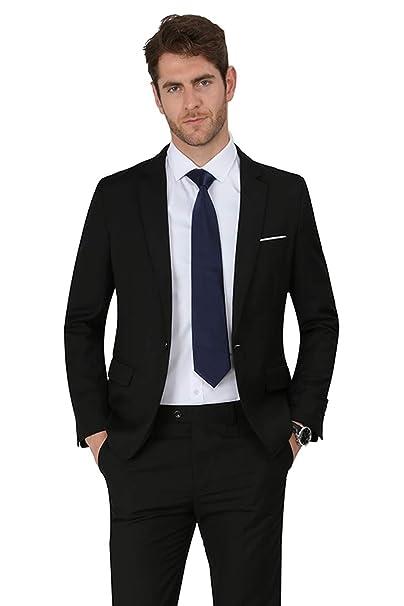 Amazon.com: MAGE MALE Blazer - Abrigo para hombre con solapa ...