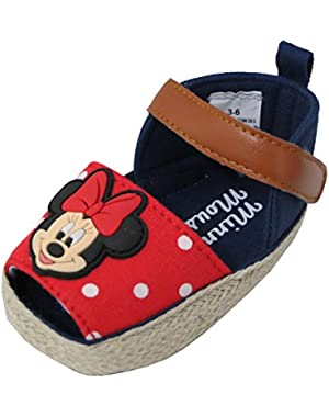 Minnie Mouse Red Polka Dot Girl's Baby Sandals
