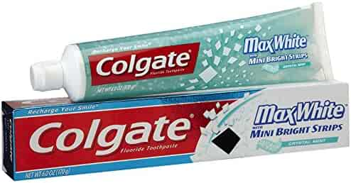 Colgate Crystal Mint Toothpaste With Mini Breath Strips-6 Oz