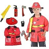 BAMBINI GIOCO DI RUOLO Costume Set Pendente FINGERE Costume Halloween e assessories, 3-7 anni - Pompiere, One Size