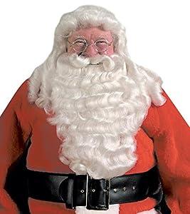 Halco Men's Santa Deluxe Wig & Beard One Size White