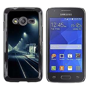 Caucho caso de Shell duro de la cubierta de accesorios de protección BY RAYDREAMMM - Samsung Galaxy Ace 4 G313 SM-G313F - Stop Street Lights Black White Road