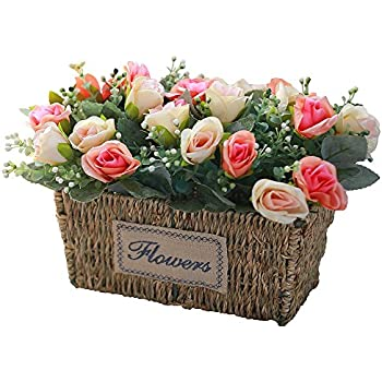 Amazon bluefun real touch pu artificial amaryllis flowers bunch artificial silk rose wedding flowers floral arrangements fake flowers table centerpieces gift for home kitchen garden mightylinksfo