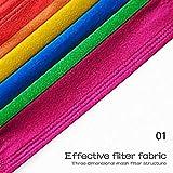 CHYOU 100PCS Disposable 3-Layer Face Màsc Bandanas Multicolor Face Bandanas Dust-Proof for Kids, Outdoor