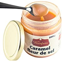 Aux Bienfaits Salted Caramel Fleur de Sel – Rich & Buttery Caramel Sauce Spread – 100% Natural – No Preservative, GMO Or Additive - Made in Canada - 250g