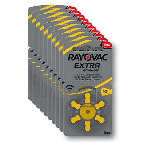 RAYOVAC EXTRA ADVANCED PR70 Zinc Air Hearing Aid Batteries YELLOW TAB Size...