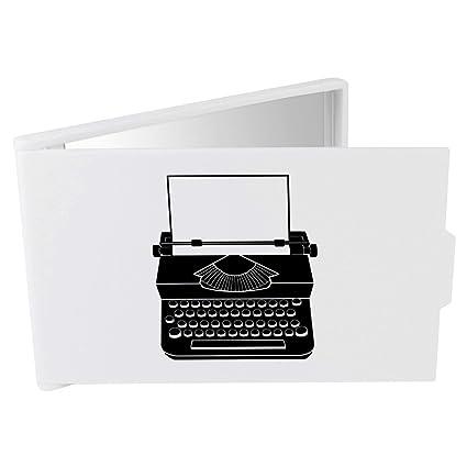 Azeeda Máquina de Escribir Espejo Compacto / de Bolsillo (CM00001440)