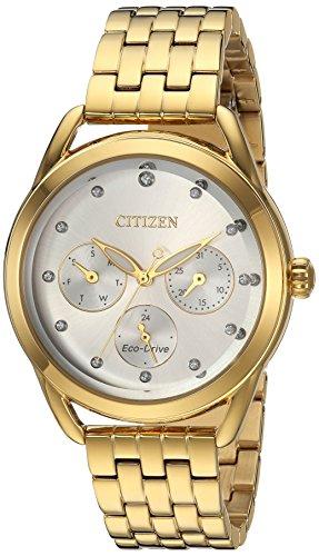 Citizen Gold Bracelets - Citizen Women's 'Drive' Quartz Stainless Steel Casual Watch, Color:Gold-Toned (Model: FD2052-58A)