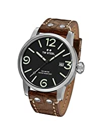 TW Steel Men's MS11 TW Steel Maverick Analog Display Quartz Brown Watch