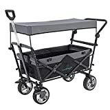 LUCKUP Collapsible Folding Wagon Stroller Cart for Kids Utility Garden Cart Collapsible