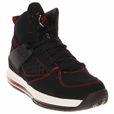 1dbf995a4dc ... Air Jordan Flight 45 High Max Black White Gym Red Mens Basketball  524866-001 ...