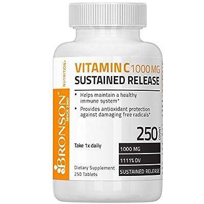Bronson Vitamin C 1000 mg Sustained Release Premium Non-GMO Ascorbic Acid
