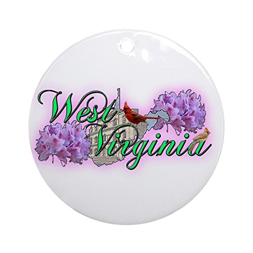 CafePress West Virginia Ornament (Round) Round Holiday Christmas Ornament