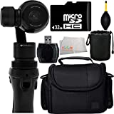 DJI Osmo Handheld 4K Camera and 3-Axis Gimbal 32GB Bundle 6PC Accessory Kit. Includes 32GB microSD Memory Card + High Speed Memory Card Reader + Dust Blower + Lens Pouch + Carrying Case + Microfiber Cleaning Cloth
