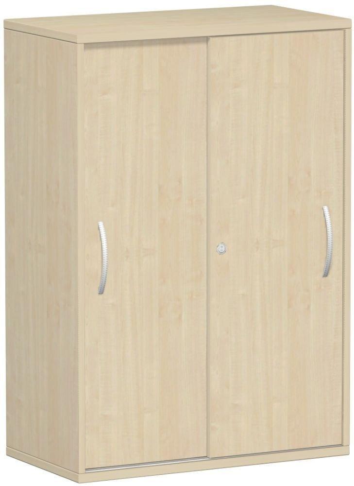 Gera Möbel Schranksystem Flex Schiebetürenschrank Holzdekor ahorn, 80 x 42.5 x 118.2 cm