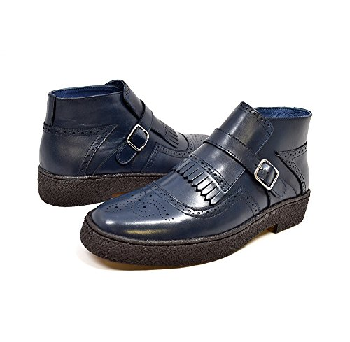 Original Leather Jump Boot (British Collection - Original Playboy Manhattan Navy Wingtip 13)