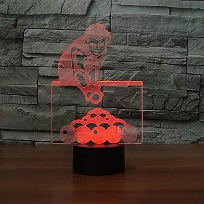 IYOUNG 3D Luz Nocturna 7 Colores Que Cambian El Juego De Billar ...
