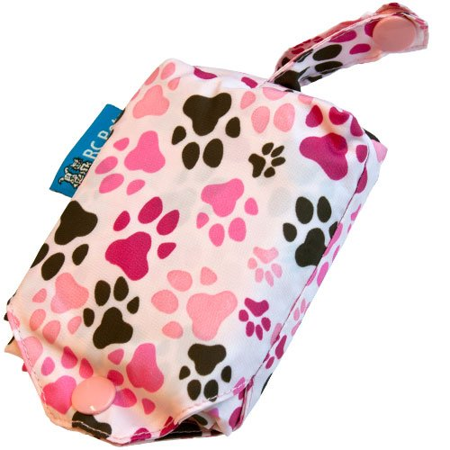 Picture of RC Pet Products Packable Dog Rain Poncho, Pitter Patter Pink, XX-Large