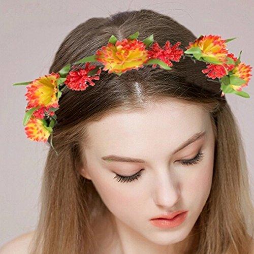Belle Handcrafted cheveux Couronne Headpiece Mer Fleurs Guirlande, Rose