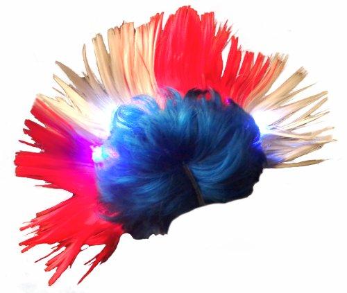 Dance Rock And Roll Costumes (WeGlow International Light Up USA Mohawk Wig)