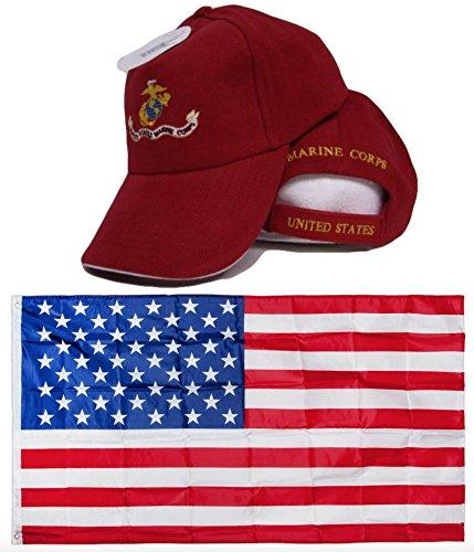 3dbc2b0a USA USMC Marines Marine Red EGA White Rim Emblem Embroidred. 5