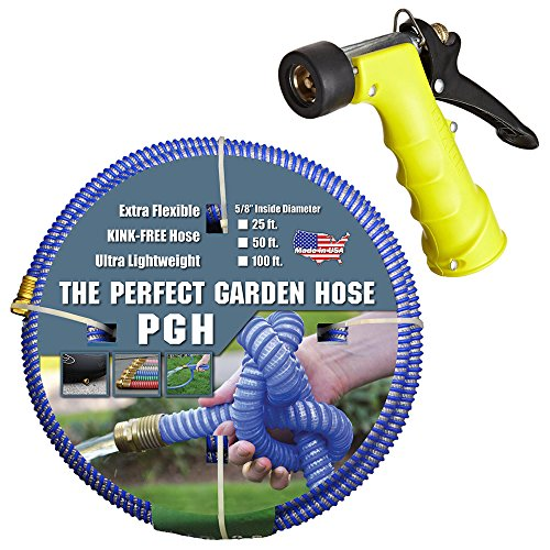 Tuff-Guard 001-0106-0600-SN75 Thermoplastic Elastomer/Polyester/Polypropylene (PP)/Brass The Perfect Garden Hose, Coupled Male x Female GHT, 5/8