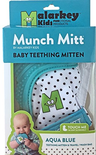 Munch-Mitt-Teething-Toy-Stays-on-Babys-Hand-is-Self-Soothing-Entertainment-and-Gives-Pain-Relief-from-Teething-plus-its-an-Ideal-Baby-Shower-Gift-that-includes-a-Handy-TravelLaundry-Bag