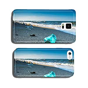 Pollution and waste on the beach in sunset light cell phone cover case iPhone5
