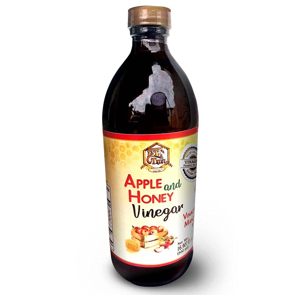 Apple Cider Vinegar with honey and the mother raw unfiltered all-natural no sugar added manufactured in an FDA registered plant and Kosher certified 16.907 Fl Oz (500 mL) 1 Pack